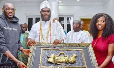 'Thank you for taking care of 2baba' - Ooni of Ife tells Annie Idibia (Video)