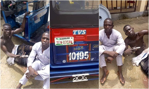 , Police arrest 19-year-old armed robber, others, recover arms and tricycle in Yenagoa (Photos)