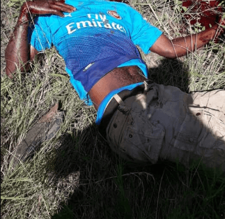 , Husband hacks to death man who tried to rape his pregnant wife (graphic photos)