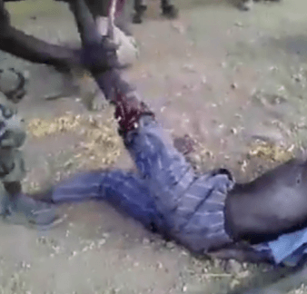 , Nigerian Army reacts to viral video of soldiers breaking the leg of a man and forcing him to eat his flesh