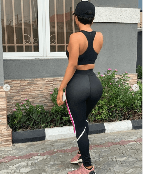, Toke Makiwa flaunts backside in training tight and sports bra [See Photos]