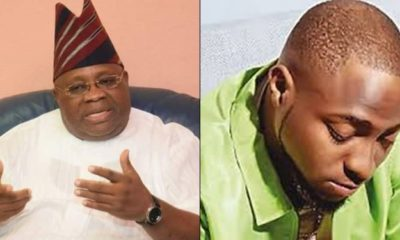 Davido reacts to court's nullification of his uncle Senator Ademola Adeleke