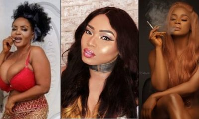 Actress Cossy fights dirty, calls Halima Abubakar a snake and a lesbian, begs Uche Ogbodo to flee