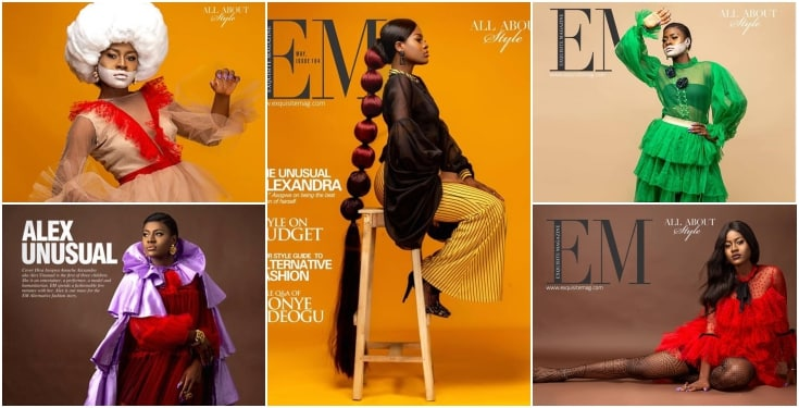 Big Brother Naija star Alex Unusual, Big Brother Naija star Alex Unusual Covers Exquisite Magazine's Latest Issue (Photos)