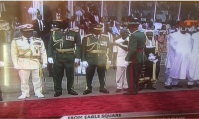 Watch the moment Brigade commander orders Oshiomhole off parade ground at Buhari's Inauguration