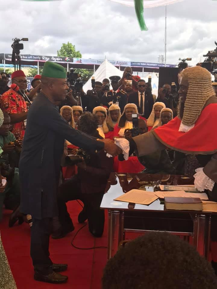 Emeka Ihedioha sworn in, Hon. Emeka Ihedioha sworn in as 6th executive governor of Imo state (Photos), Latest Nigeria News, Daily Devotionals & Celebrity Gossips - Chidispalace