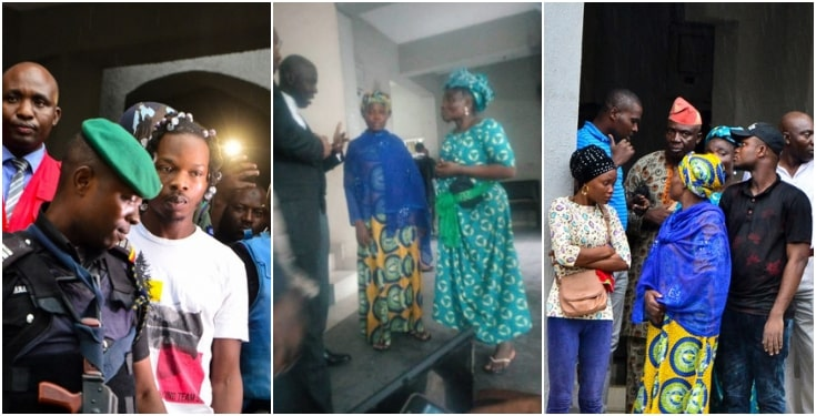 Photo of Naira Marley's mother in tears as EFCC hands him over to Nigerian Prison Service (Photos)
