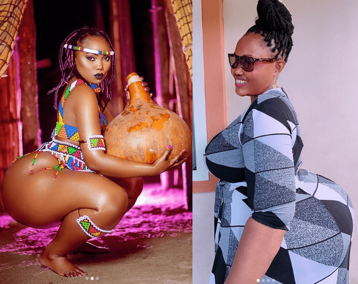 Tanzanian model, Tanzanian model, Sanchi shows off her endowed mom and fans are now convinced that her massive backside is natural (See Photos)