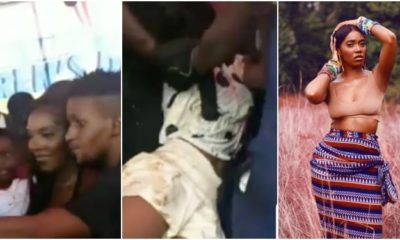 Lady Collapses While Trying To Snap With Tiwa Savage At Regina Daniels' Carnival (Video)