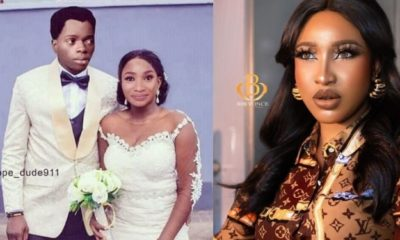 Tonto Dikeh shares photoshopped pictureof her getting married to Bobrisky