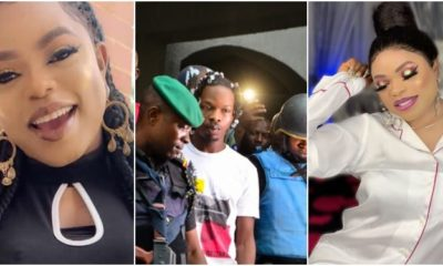 Naira Marley's mother in tears, Naira Marley's mother in tears as EFCC hands him over to Nigerian Prison Service (Photos)