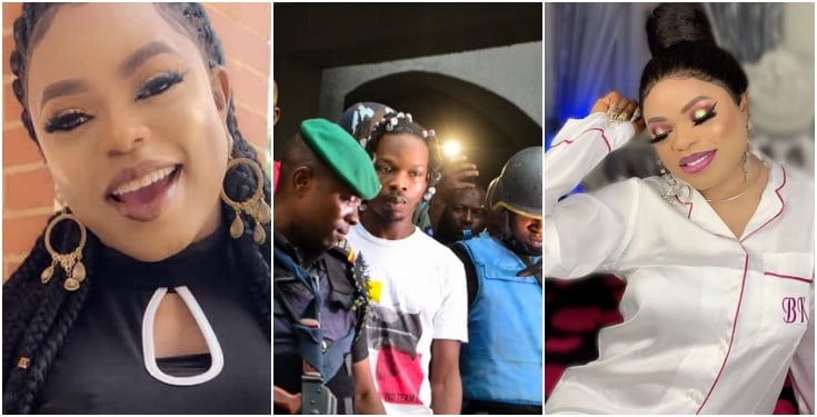 Bobrisky defends Naira Marley and says short prayer for him