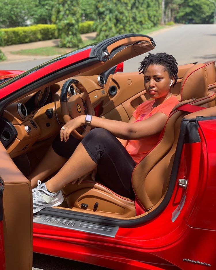 Regina Daniels flaunts, Regina Daniels flaunts new car, celebrates 4m Instagram followers