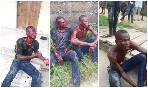 Suspected thieves beaten in Bayelsa to pulp after robbing a lady at gunpoint