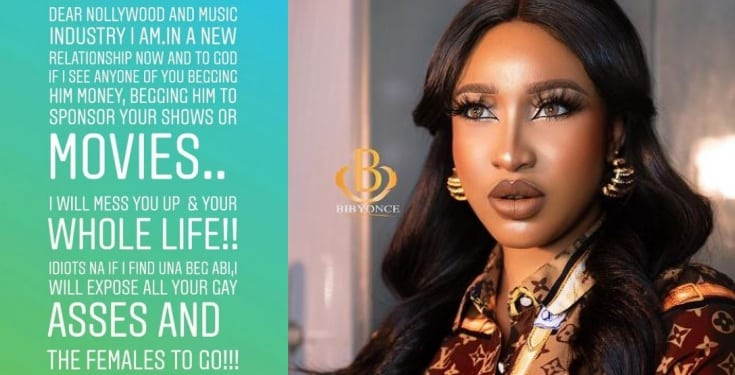 Tonto Dikeh warns Annie Idibia, Eniola Badmus, others to stay off her 'new man'