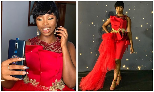 BBNaija BamBam radiates, BBNaija BamBam radiates in new photos as she slays on red