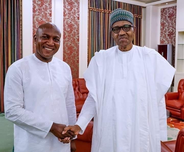 President Buhari congratulates David Lyon on his victory