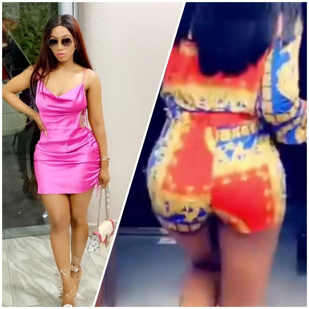 OMG! Mercy filmed dangling her bumbum on a very skimpy short outfit (video)