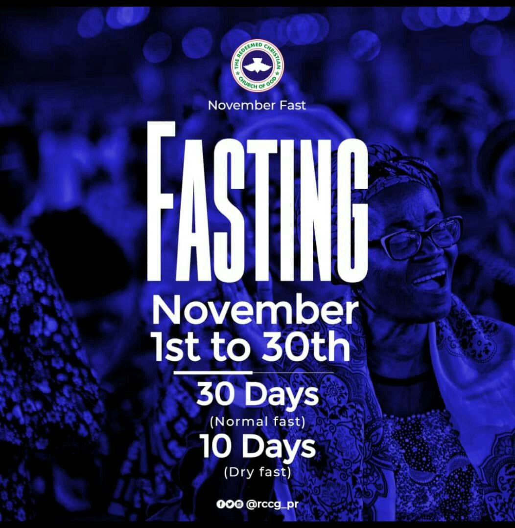RCCG November 2019 30 Days Fasting Prayer Points Day 20