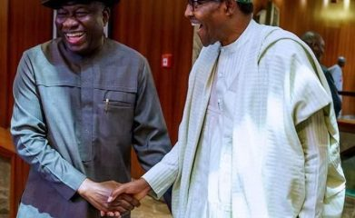 Breaking: Buhari, Goodluck Jonathan meet