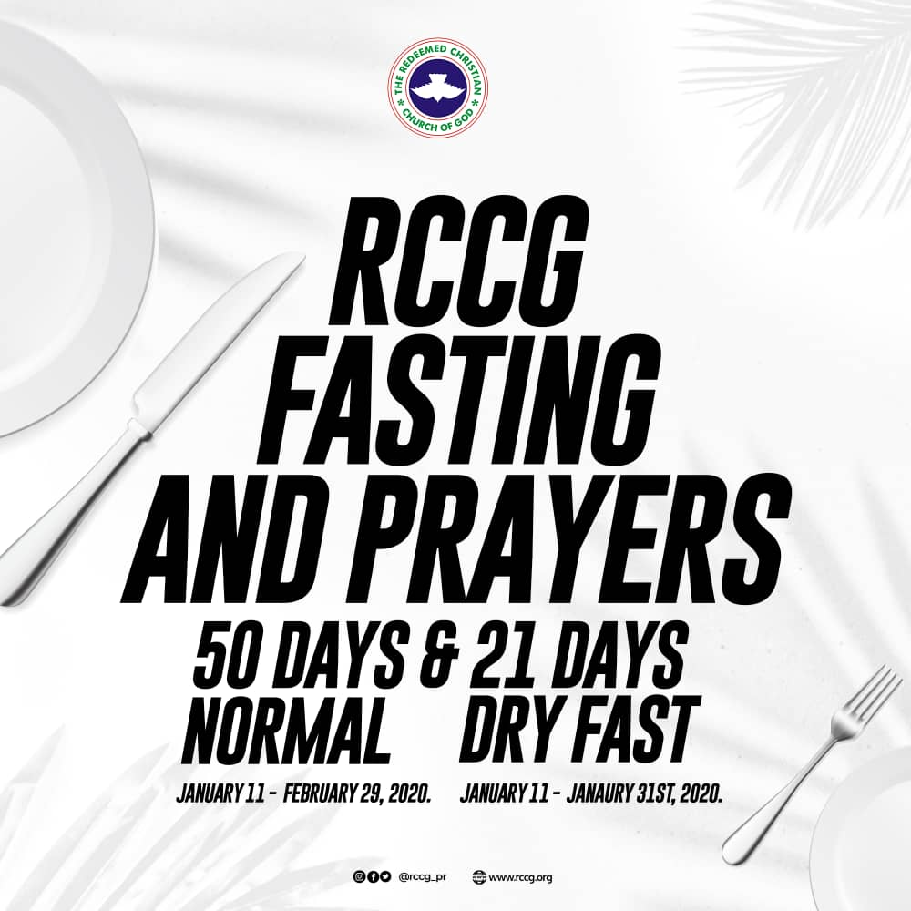 RCCG 2020 Fasting and Prayer Points Guideline, RCCG 2020 Fasting and Prayer Points Guideline, Latest Nigeria News, Daily Devotionals & Celebrity Gossips - Chidispalace