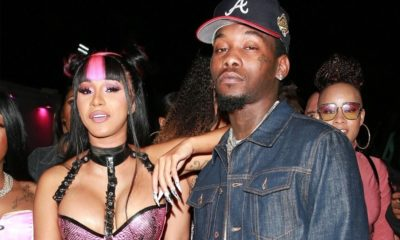 Offset caught on camera punching man who threw drink at Cardi B (Video)