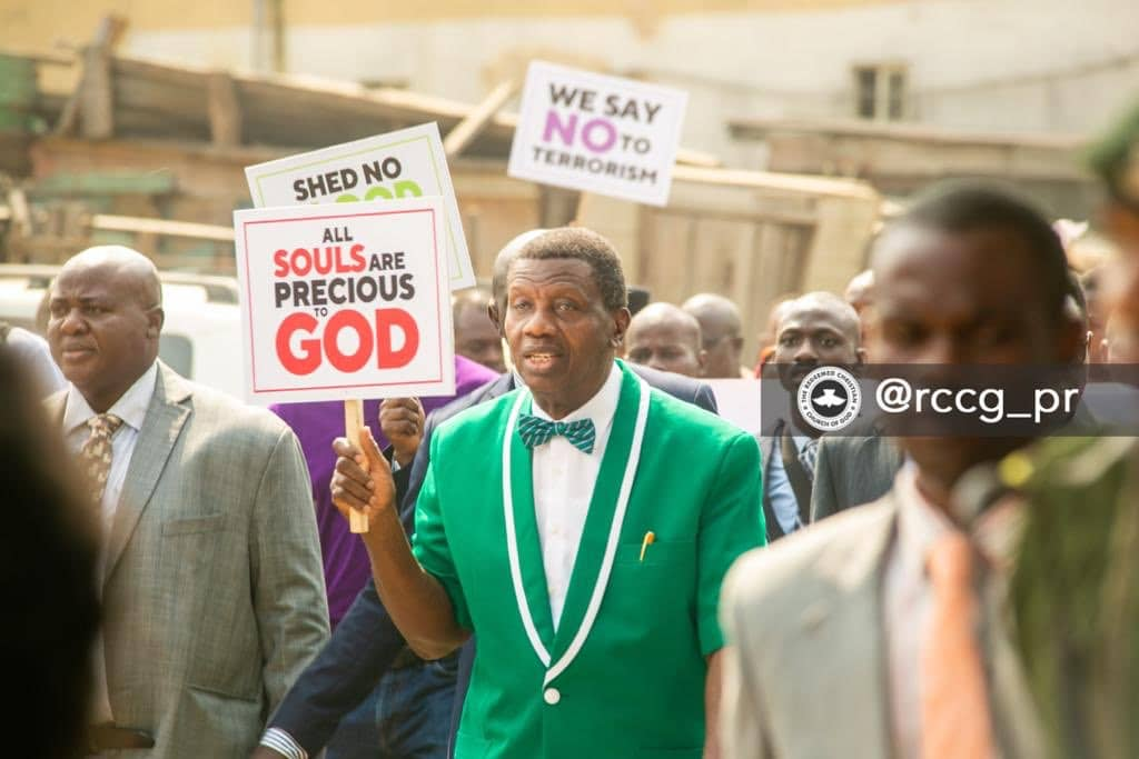 Photo of Pastor Adeboye leads protest, demands overhaul of security framework
