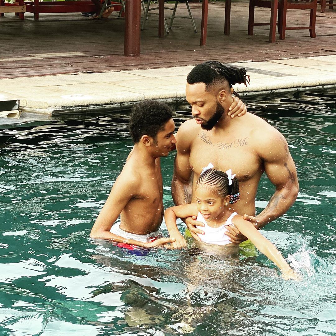 Nigerian singer Flavour celebrates son's birthday with new photo