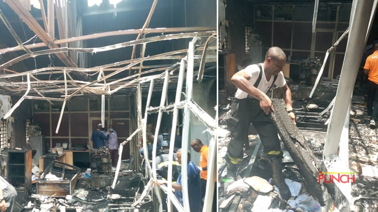 Photo of Breaking: Fire guts INEC headquarters in Abuja