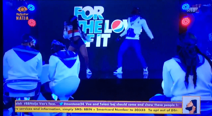 BBNaija 2029: Watch Nengi and Prince's 'Tension' performance in the #PepsiBBNTurnUp (video)