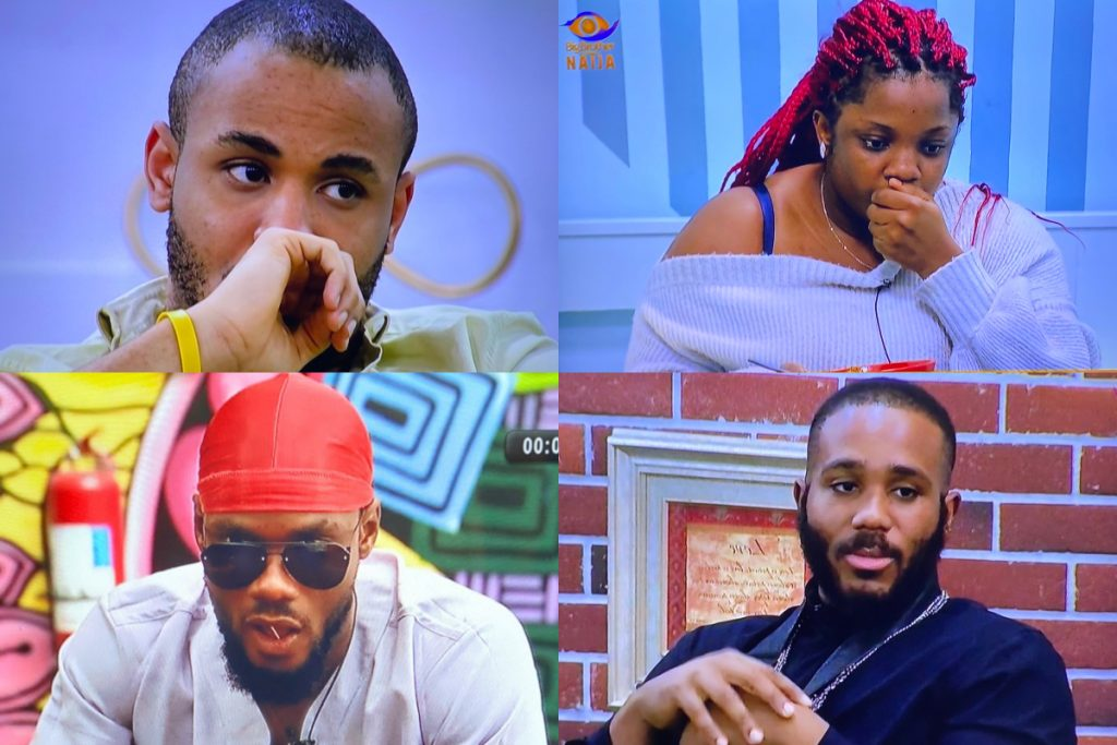 BBNaija 2020: Kiddwaya, Ozo, Dorathy and Prince up for possible eviction, BBNaija 2020: Kiddwaya, Ozo, Dorathy and Prince up for possible eviction, Latest Nigeria News, Daily Devotionals & Celebrity Gossips - Chidispalace