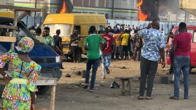 Photo of #EndSRS: Orile Police set ablaze by hoodlums as protest intensifies (Video + Photos)