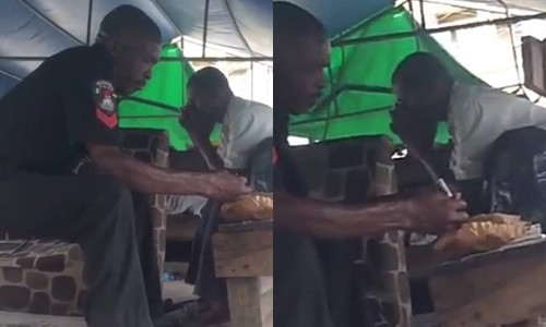 Trending: Policeman caught smoking WEED in public, Trending: Policeman caught smoking WEED in public (Video), Latest Nigeria News, Daily Devotionals & Celebrity Gossips - Chidispalace