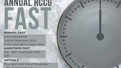 RCCG NOVEMBER 2020 FASTING PRAYER POINTS FOR 30 DAYS, RCCG NOVEMBER 2020 FASTING PRAYER POINTS FOR 30 DAYS – Download PDF, Latest Nigeria News, Daily Devotionals & Celebrity Gossips - Chidispalace