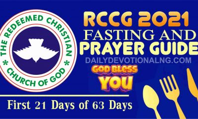 RCCG 2021 Fasting And Prayer Points Guide for 13th January 2021 Day 3